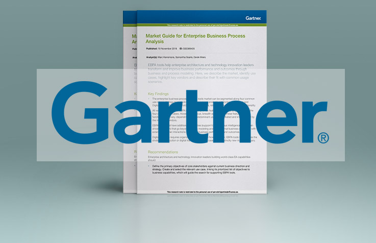 CANEA ONE included in Gartner's Market Guide for Enterprise Business Process Analysis again.